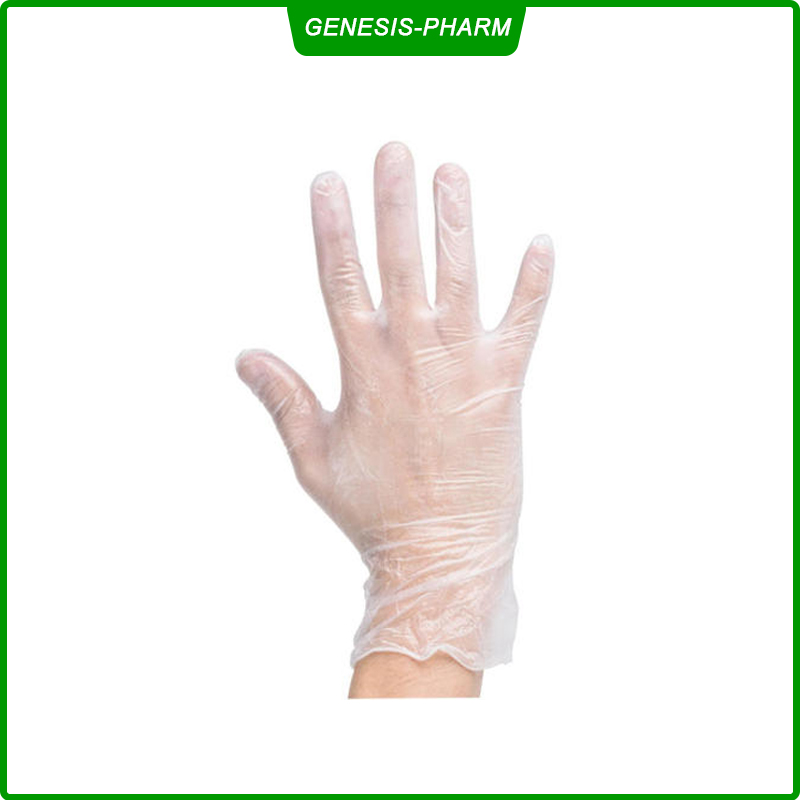 PVC Medical Vinyl Gloves Disposable Gloves Examination Gloves Powder Free Rubber Latex Free Non Sterile Comfortable for Pet Care/Labor/Healthcare/Food Handling/Dental/Tattoo Protective